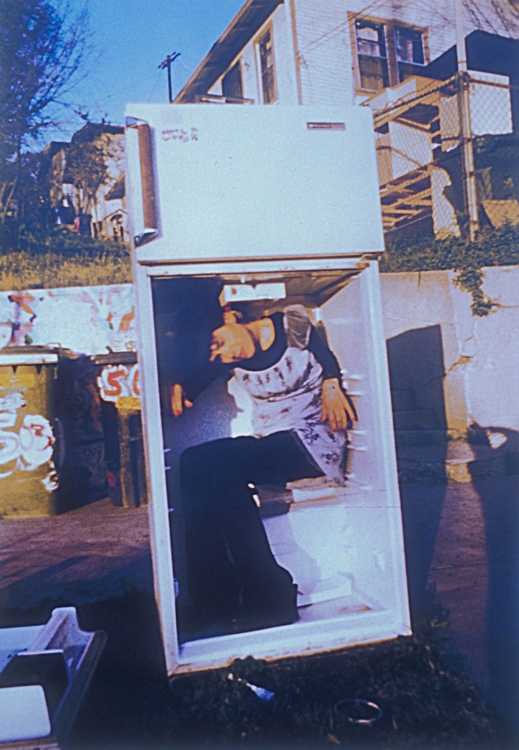 Fridge (Seated). 2002. C-print, 60 x 40 in.