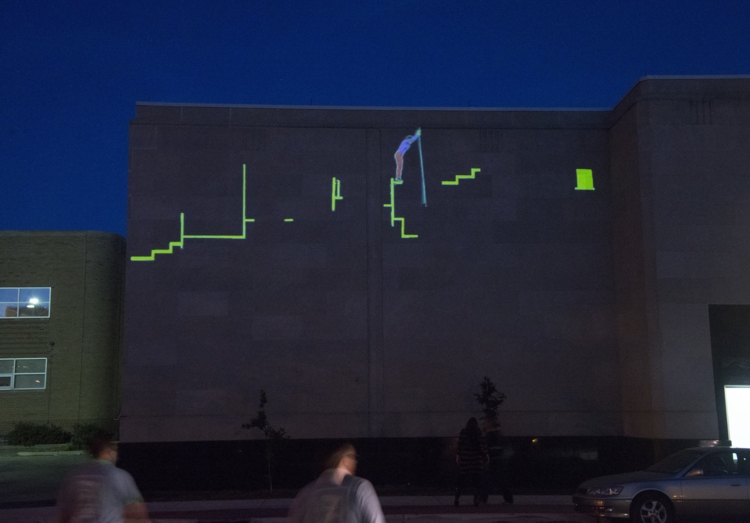 The Climb (54 Jefferson). 2013. Video projection. Photography by Diane Carroll Burdick.