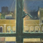 Busy Bee Hardware at Night. 1990. Oil on canvas, 40 x 44 in.
