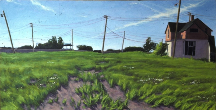 Denton. 1982. Oil on canvas, 24 x 48 in.