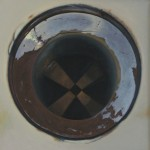 Drain. 2004. Oil on canvas, 34 x 34 in.