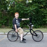 Boy with Lowrider Bicycle, from Your Town Tomorrow. 2009. Pigment print.