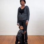 Breanna and Her Son Perrion (Catherine Ferguson Academy), from Walk-in Portrait Studio. 2011. Pigment print.