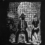 Waiting for My Change to Come. 2008. Linoleum block print, 12 x 12 in.