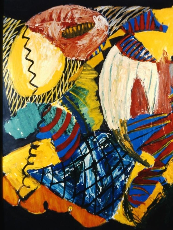 "Astro Black, 1992, Acrylic on paper, 72"" x 60"" Image courtesy of the artist"