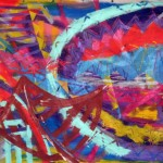 "Mystical  Afronaut, 2005, Acrylic on canvas, 72"" x 84"" Image courtesy of the artist"