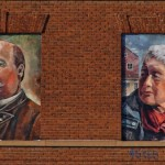 Hazen Pingree, Grace Lee Boggs (detail from Detroit Portrait Series). 2014. Acrylic, wood, 10 x 7 ft. (2).