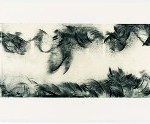 After Jabès. 2013. Intaglio monoprint with chine collé, letterpress, 19 x 120 in. Photography by R. H. Hensleigh.