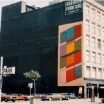 Color Cubes. 1973 (painted over 2014). Mural, 50 x 25 ft. Image courtesy of the artist.