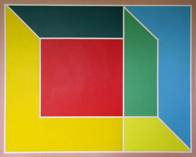 Room. 1970. Acrylic on canvas, 24 x 30 in. Photography by Matthew Piper.