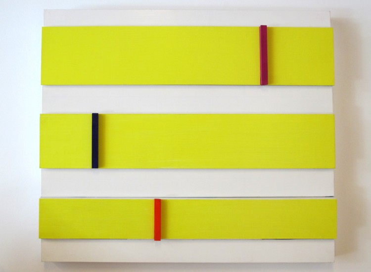 Yellow Ribbons. 2012. Acrylic on wood. Dimensions variable. Photography by Matthew Piper