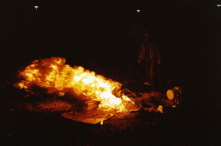 Country Boy's Fire, from the project Scrappers. 2000–4. Image courtesy of the artist and Susanne Hilberry Gallery.