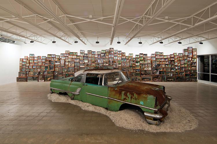 Mercury Retrograde, installation at Susanne Hilberry Gallery. 2012. Mixed-media installation. Image courtesy of the artist and Susanne Hilberry Gallery.