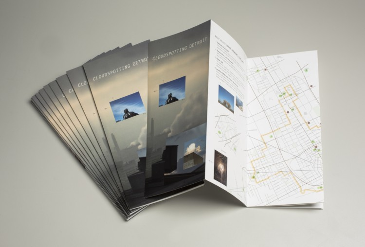 Cloudspotting Detroit. 2010. Brochure, 9 x 27 in. (open). Photography by Tim Thayer.