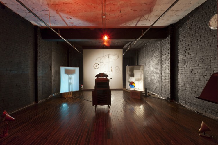 1913 revisited, mixed media installation, Pittsburgh, 2013. Image courtesy of the artist and the Mattress Factory, Pittsburgh