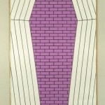 Purple Coffin. 1986. Oil, linen, 54 x 80 in.