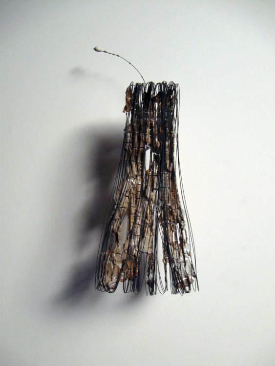 #2. 2013. Salt-fired porcelain, wire, 7 x 4 1/2 x 2 1/2 in.