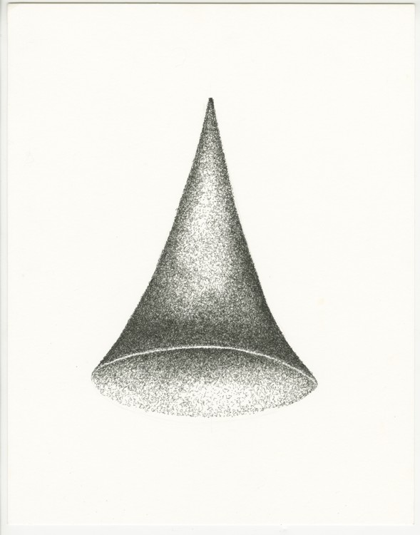 Untitled (Early Cone). 1998. Ink, paper, 14 x 11 in.