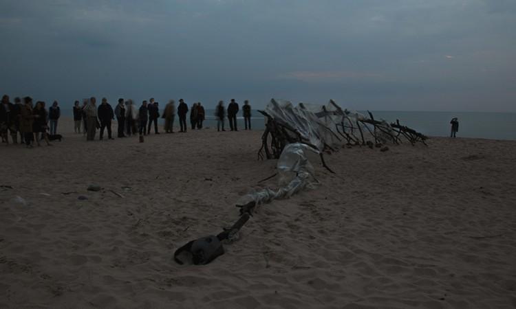 The Beach. 2014. Found materials. Fjaltring, Denmark.