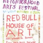 Hamtramck Neighborhood Arts Festival Poster. 2014. Inkjet print, mixed-media, 17 x 12 in. Image courtesy of Hamtramck Neighborhood Arts Festival.
