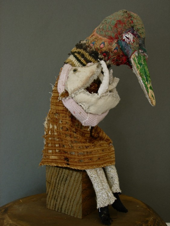 The Surrogate. 2008. Mixed-media, found objects, 12 x 7 x 7 in.