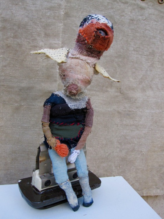 Bird Mother #10. 2012. Mixed-media, found objects, 14 x 7 x 5 in.