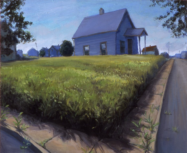 Country in the City. 2004. Oil, wood, 15 x 24 in.