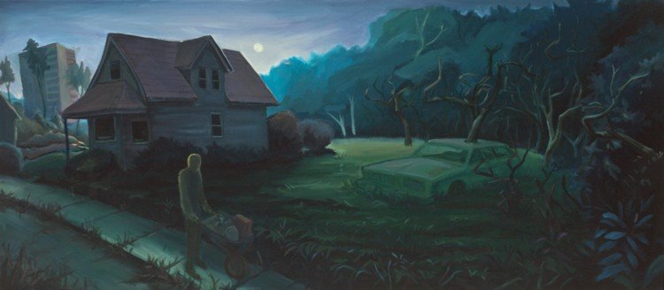 The Twilight. 2009. Oil, canvas, 20 x 45 in.