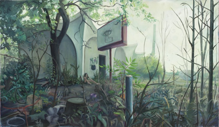 Chinese Restaurant. 2012. Oil, wood, 30 x 48 in.