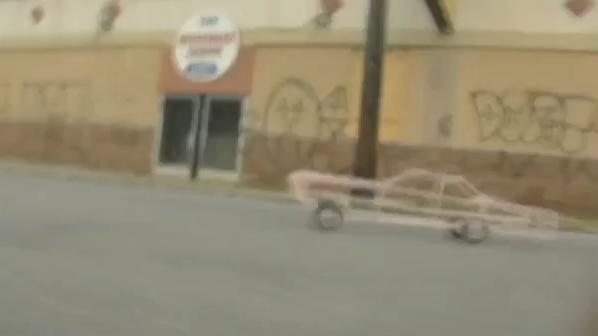 my pink caddi. 2009. Video still.