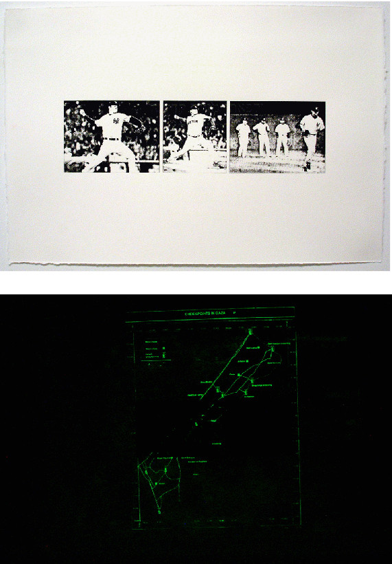 "From The Curse of the Bambino, 2006, Glow-in-the-dark screenprints, 15""x22"" Images courtesy of the artist"