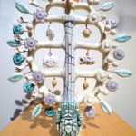 Frida and Diego, Arbol de la vida, 2015, Porcelain, copper Image by Larry McMann, courtesy of the artist