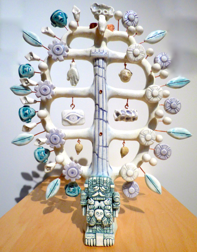 Frida and Diego, Arbol de la vida, 2015, Porcelain, copper		 Image by Larry McMann, courtesy of the artist