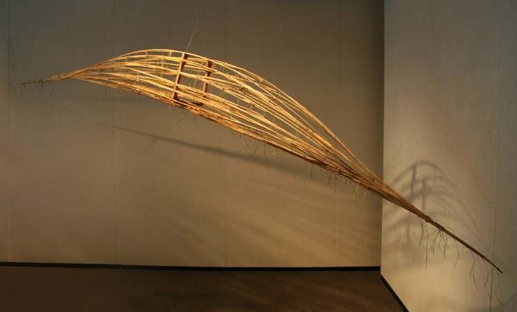 Spirit Boat, 1996, Reed grass and wood Image courtesy of the artist
