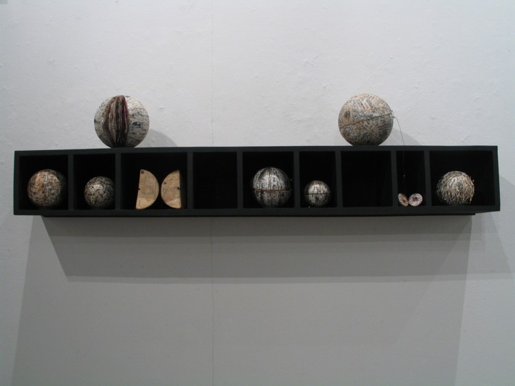Impossible Books, 2003, Paper-mache, ink on wooden stand Image courtesy of the artist