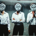 """3 Graces"" Nina, 2015. Oil on canvas, 48"" x 64"". Image courtesy of the artist."