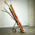 United Rambler, 2010 golf bag cart, fluorescent light fixture, wood, urethane rubber, copper, steel