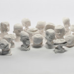 "Recurring Nightmare, 2013, plaster, variable dimensions, (4"" - 6"" tall each). Photography by Shannon Schultz."