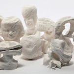 "Recurring Nightmare (detail), 2013, plaster, variable dimensions, (4"" - 6"" tall each). Photography by Shannon Schultz."