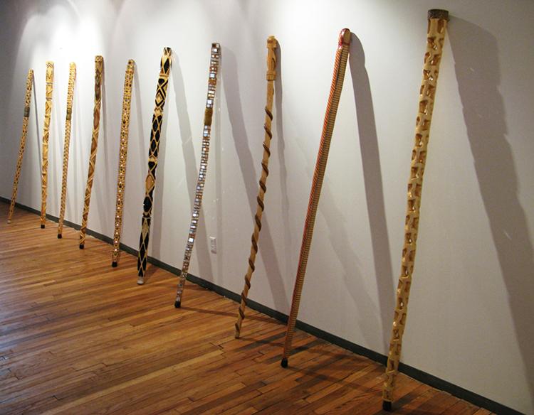 Staffs. Courtesy of the artist.