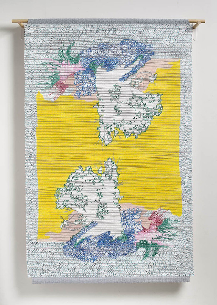 Tamarack, 2015, Handwoven drawing, 4' x 6' Image courtesy of the artist
