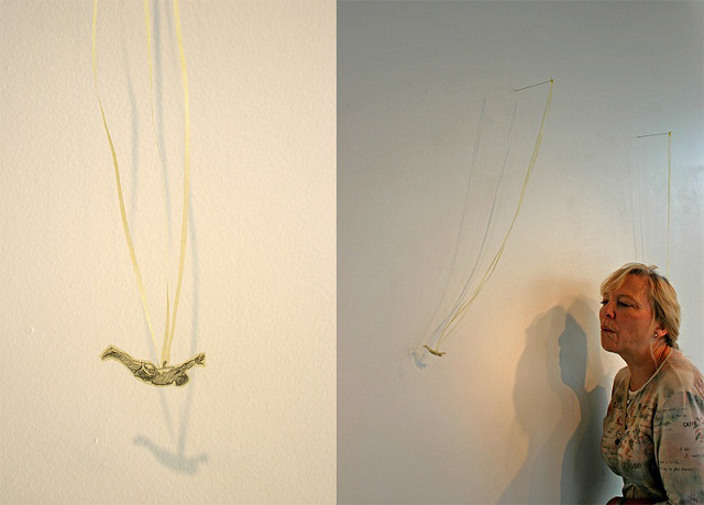 Dive (from Flyers), 2007, Paper and graphite, Dimensions variable Image courtesy of the artist