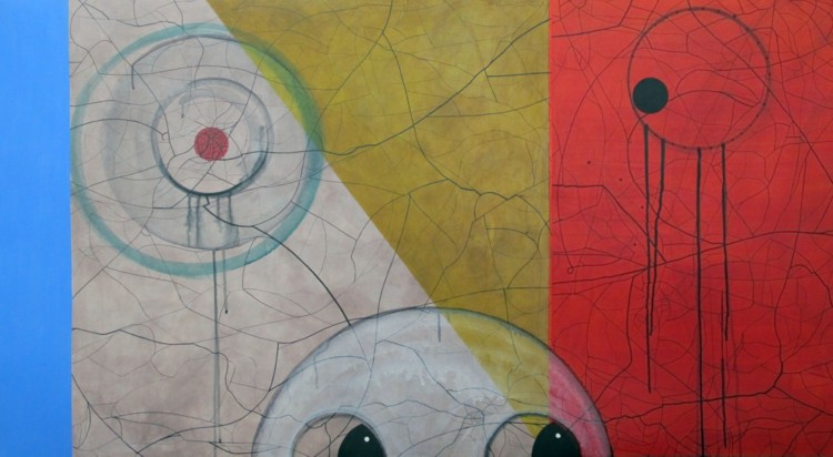 Aspetto. 2008–10. Acrylic, Polyflax, 29 x 54 in.