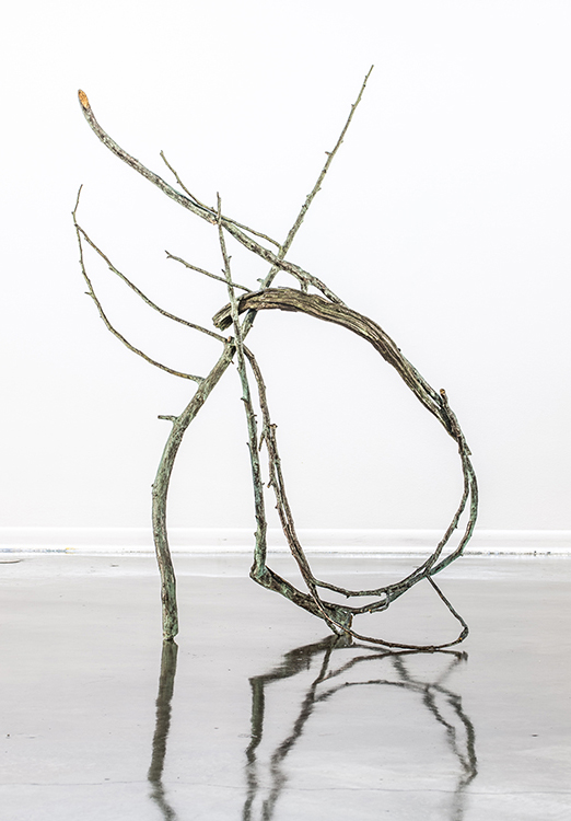 "Betsie River II, 2015. Cast bronze, 65 x 52 x 23"". Courtesy of the artist"