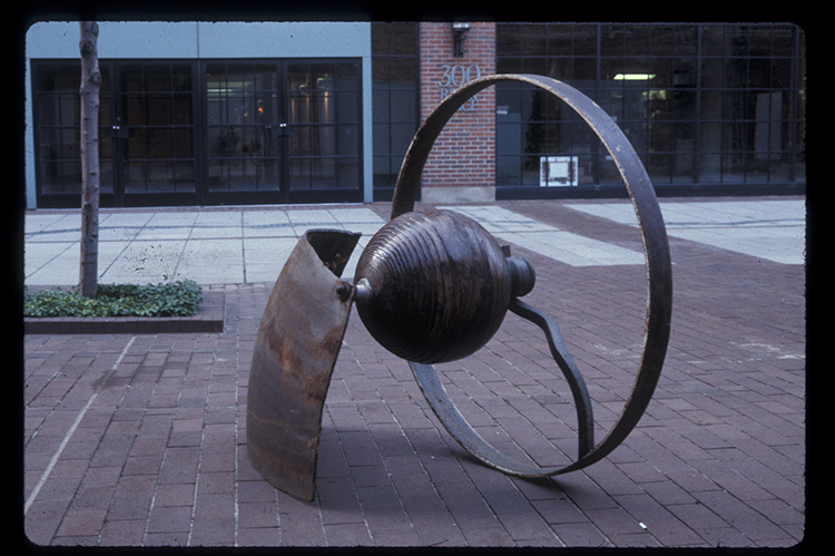 "Beverly's Song, 1990. Steel, 44 x 52 x 28"". Courtesy of the artist"
