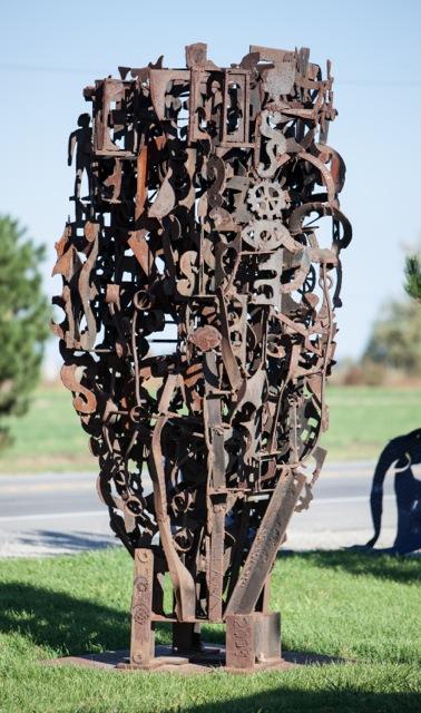 "Dream Machine, 2009. Welded steel, 140 x 72 x 72"". Courtesy of the artist"