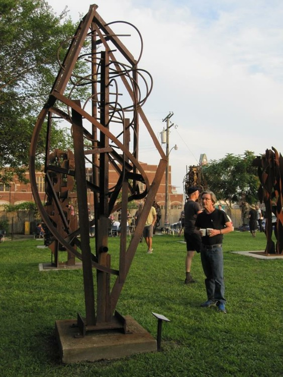 "Tomahawk Heart, 2007. Welded steel, 132 x 72 x 72"".  Courtesy of the artist"