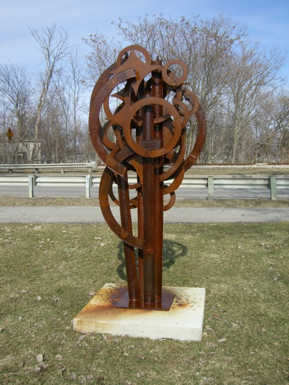 "Signal, 2004. Welded steel, 108 x 36 x 24"". Courtesy of the artist"