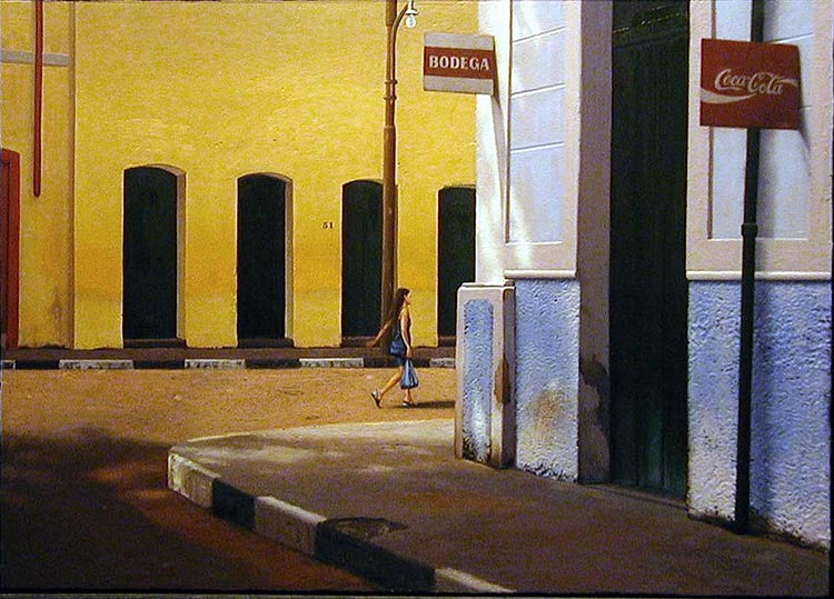 "El regreso, 2001, oil on panel, 24 x 36"". Courtesy of the artist."