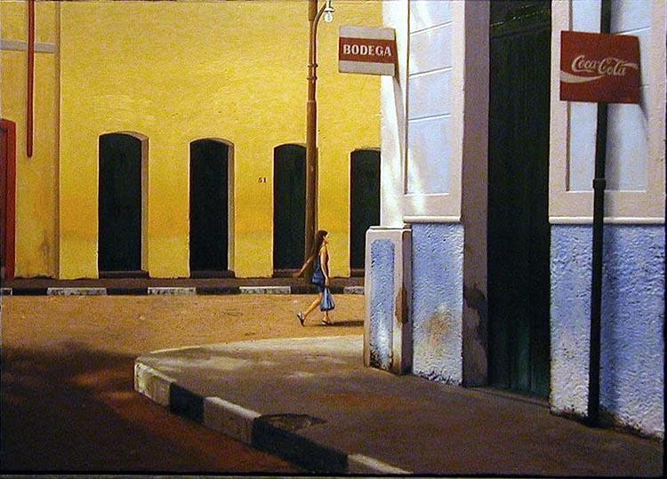 "El regreso, 2001, oil on panel, 24 x 36"". Courtesy of the artist."